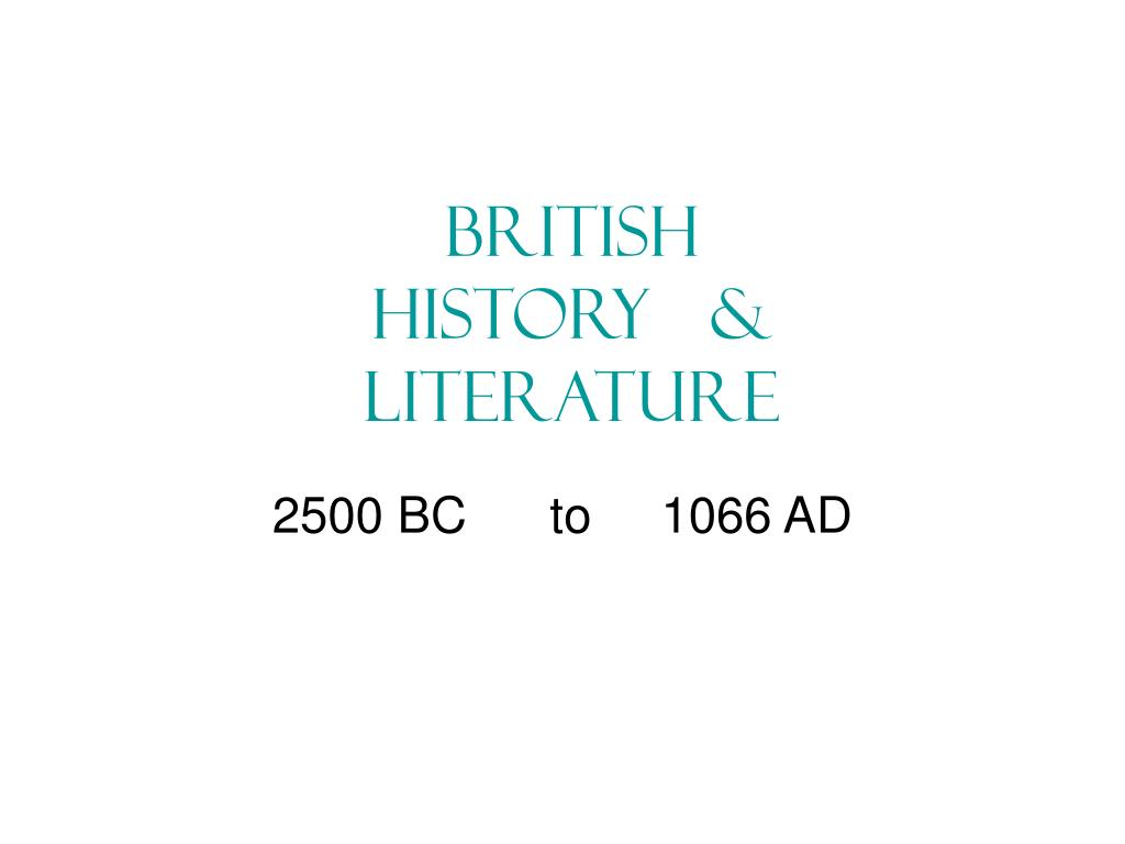 2500 bc to 1066 ad l.