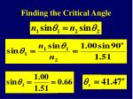 finding the critical angle18