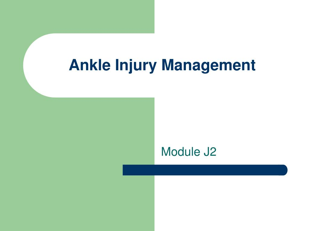ankle injury management l.