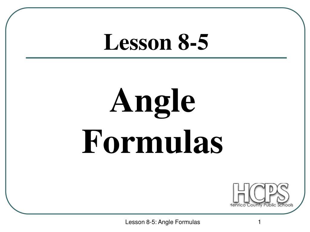 lesson 8 5 l.