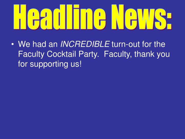 Headline News: