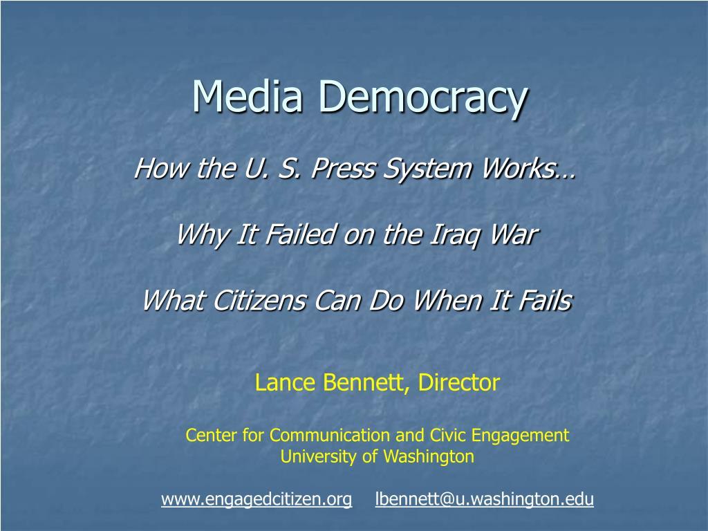 media democracy l.