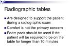 radiographic tables