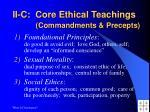 ii c core ethical teachings commandments precepts