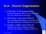 iii a church organization