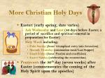 more christian holy days