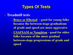 types of tests