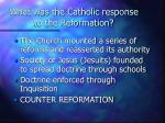 what was the catholic response to the reformation