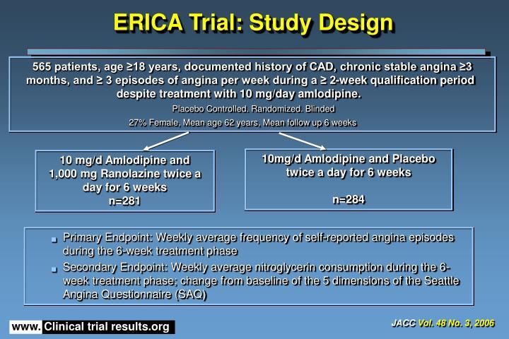 Erica trial study design