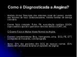 como diagnosticada a angina23