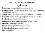 aktivne solidarne obveze djelovanje