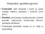 generalni i posebni ugovori