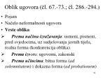 oblik ugovora l 67 73 l 286 294