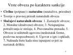 vrste obveza po karakteru sankcije