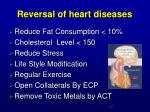 reversal of heart diseases