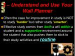 3 understand and use your wall planner