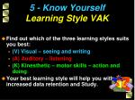 5 know yourself learning style vak