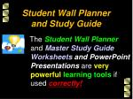 student wall planner and study guide
