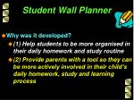 student wall planner