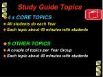 study guide topics