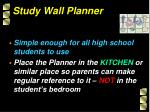 study wall planner