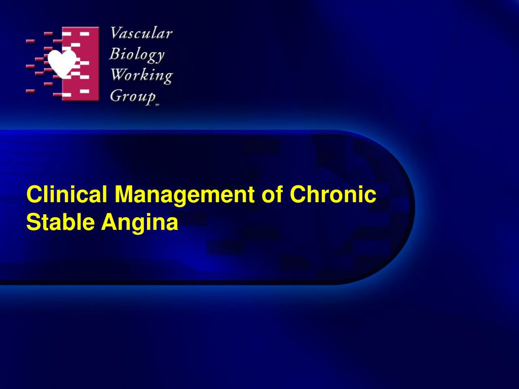 clinical management of chronic stable angina l.