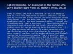 robert meeropol an execution in the family one son s journey new york st martin s press 2003