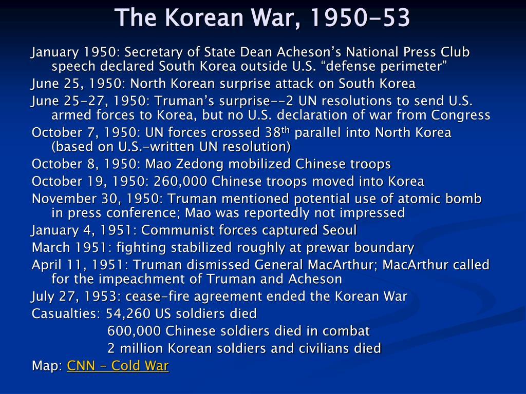 The Korean War, 1950-53