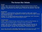the korean war debate