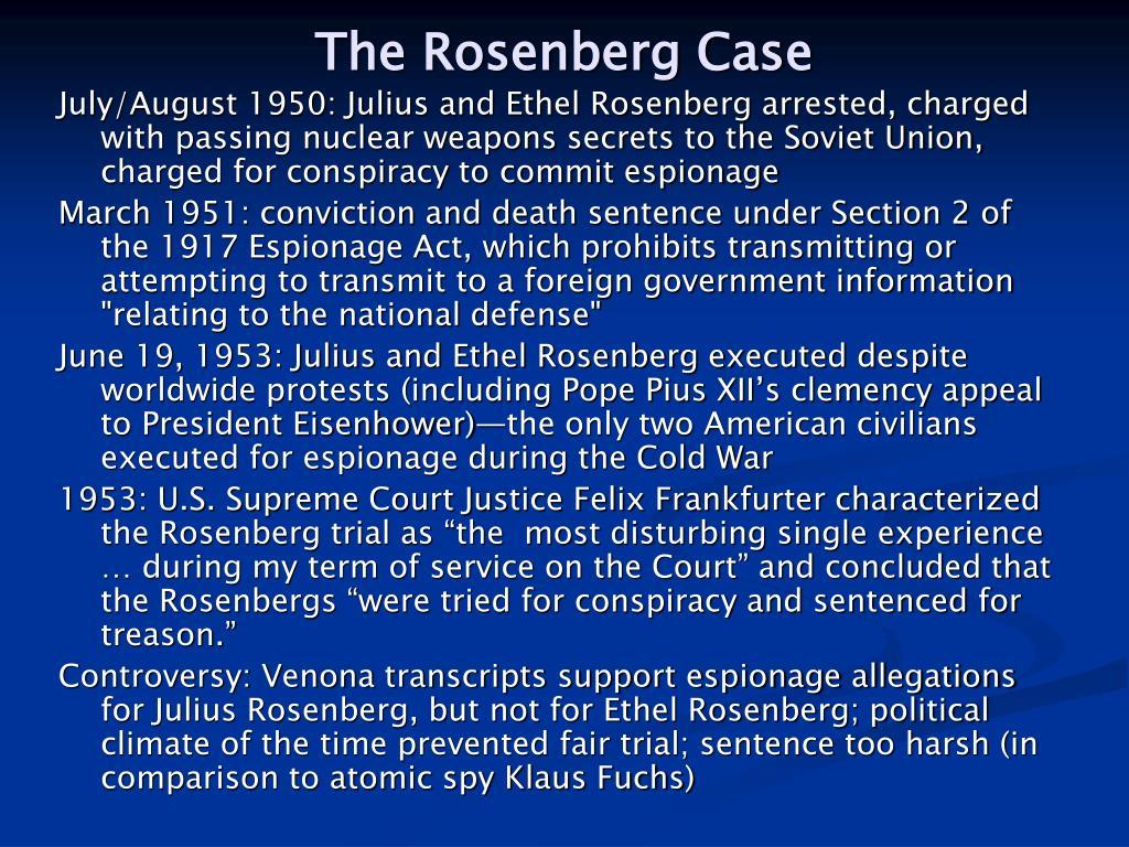 The Rosenberg Case
