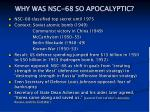 why was nsc 68 so apocalyptic