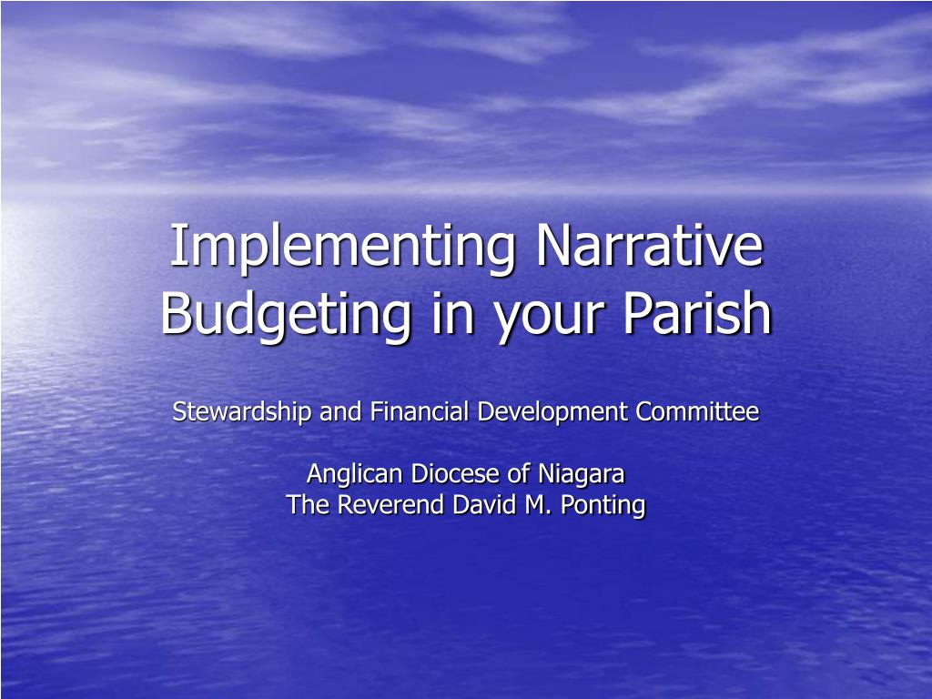 implementing narrative budgeting in your parish l.