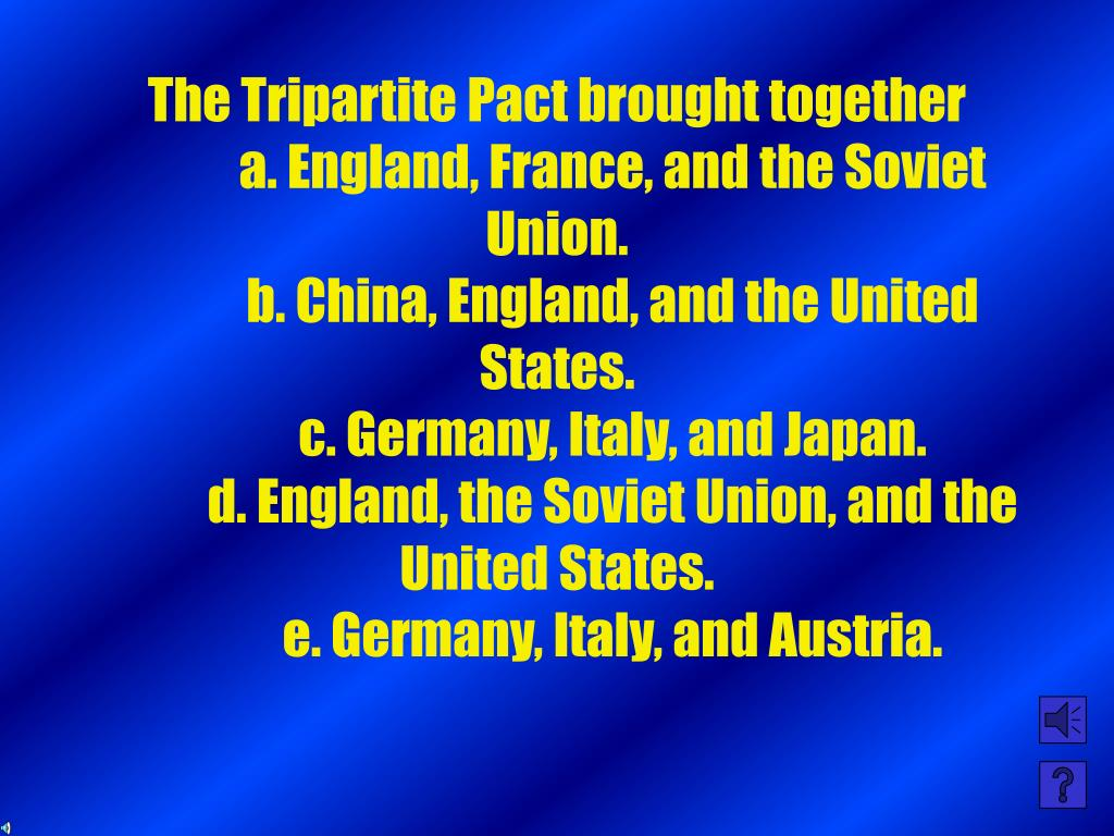 The Tripartite Pact brought together
