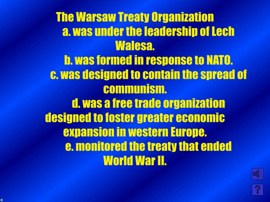 The Warsaw Treaty Organization