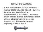 soviet retaliation