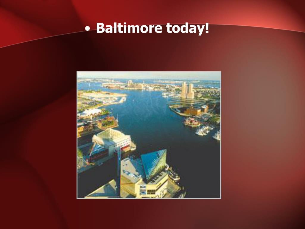 Baltimore today!
