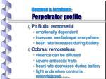 gottman jacobson perpetrator profile