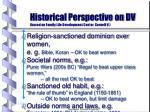historical perspective on dv based on family life development center cornell u