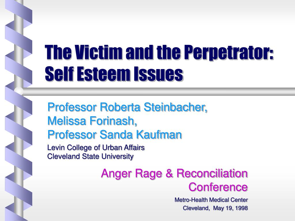 the victim and the perpetrator self esteem issues l.