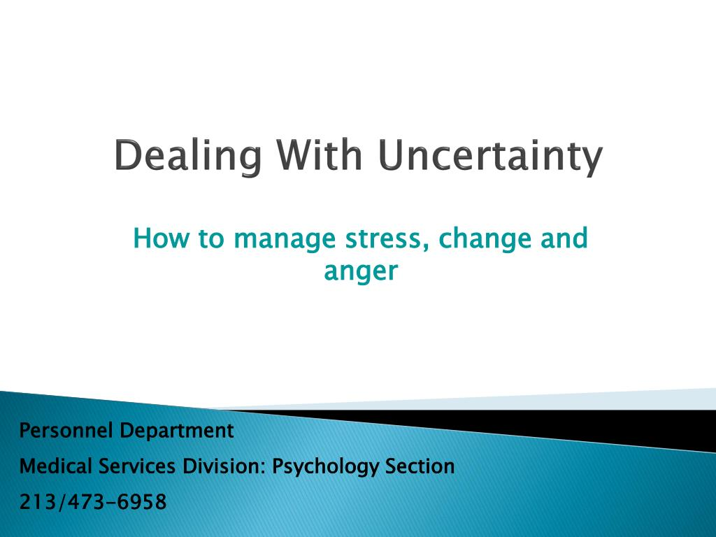 dealing with uncertainty l.