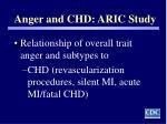 anger and chd aric study