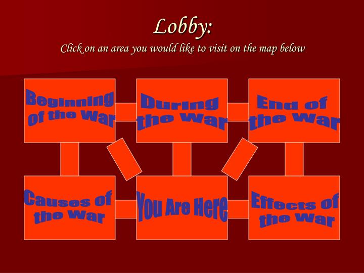 Lobby click on an area you would like to visit on the map below