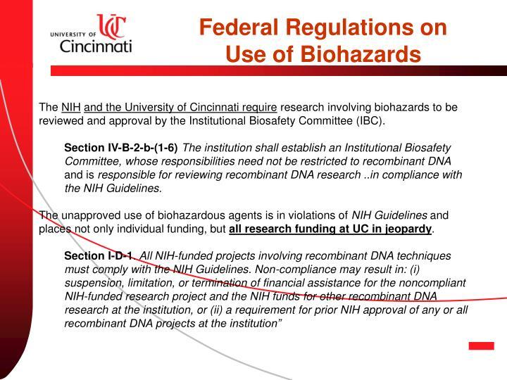 Federal Regulations on
