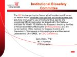 institutional biosafety committee
