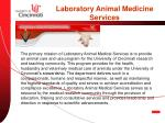 laboratory animal medicine services