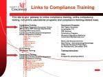 links to compliance training