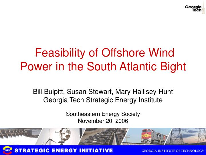 feasibility of offshore wind power in the south atlantic bight n.