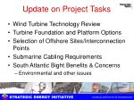 update on project tasks