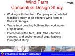wind farm conceptual design study