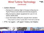 wind turbine technology continued